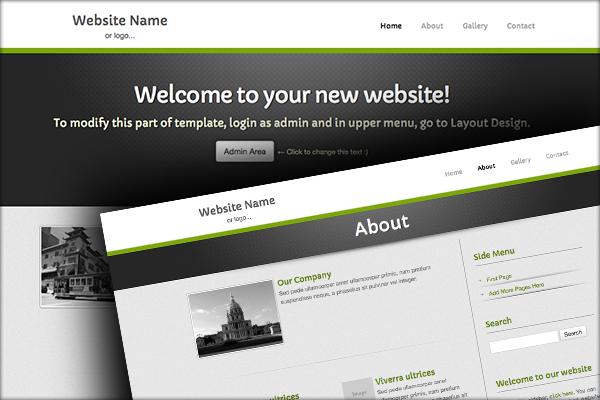 easy website templates